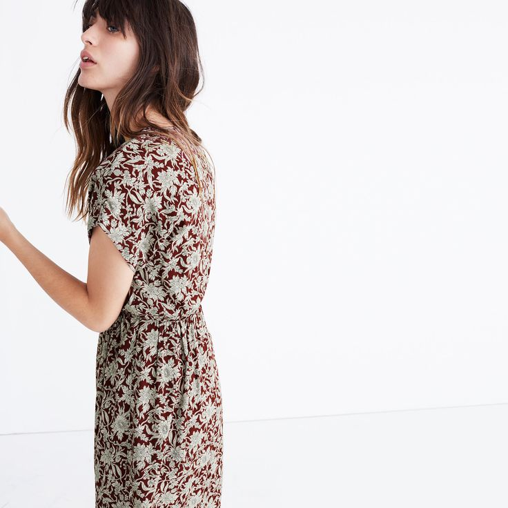 Wrap-Front Maxi Dress in Estate Floral : midi & maxi dresses   Madewell