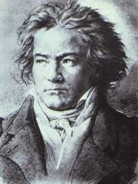 beethoven's favorite portrait of himself; a brilliant composer.  moonlight sonata is both moody and beautiful.