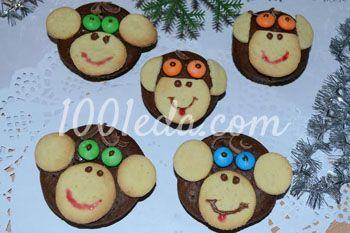 Новогодние кексы Веселые обезьянки