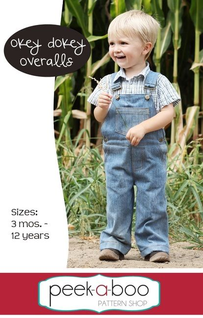 The Okey Dokey Overalls sewing pattern includes all of the classic details you know and love! $7.95