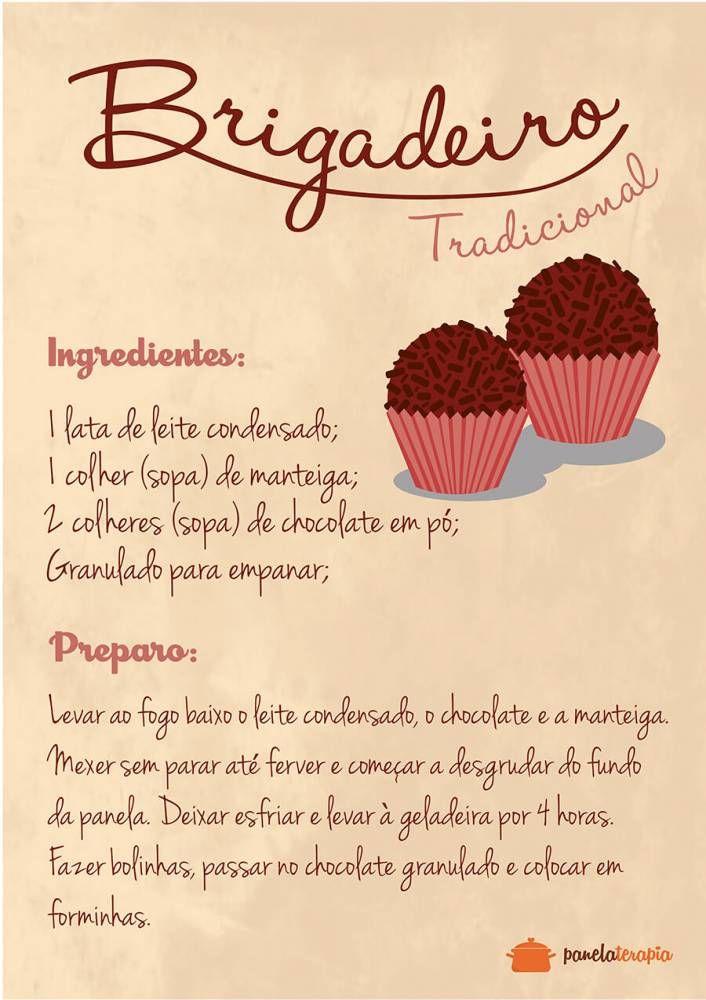 Poster Receiat de Brigadeiro - Panelaterapia TO8342