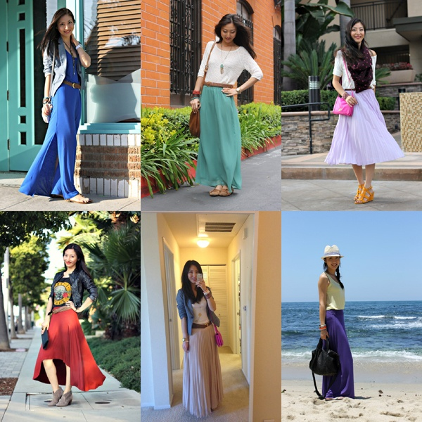 Maxi skirt style 6 ways