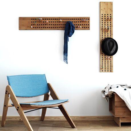 horizontal coat rack alt image two. Black Bedroom Furniture Sets. Home Design Ideas