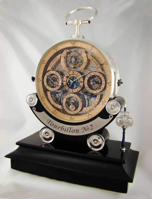 Tourbillon table watch handcrafted by Aaron Becsei, founder of Bexei Watches Company.