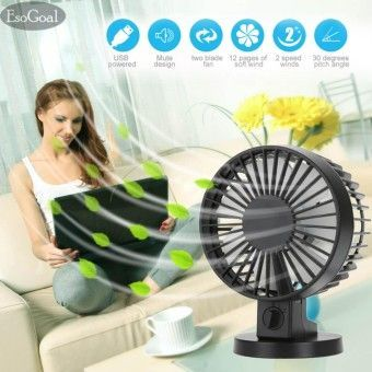 Price EsoGoal USB Desk Mini Fan, Quiet Table Fan 2 Speed Modes Dual Blades for Home Room Office Table,BlackOrder in good conditions EsoGoal USB Desk Mini Fan, Quiet Table Fan 2 Speed Modes Dual Blades for Home Room Office Table,Black You save ES458HAAAVQDF3ANMY-68887211 Home Appliances Cooling & Heating Fans EsoGoal EsoGoal USB Desk Mini Fan, Quiet Table Fan 2 Speed Modes Dual Blades for Home Room Office Table,Black #CoolHomeAppliances