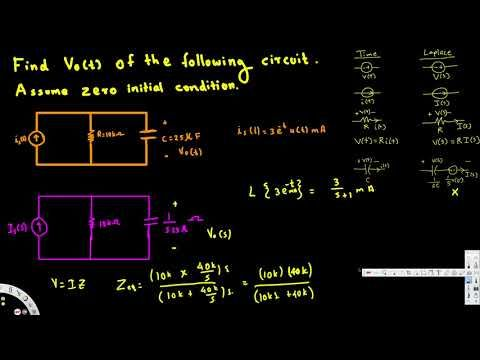 Laplace transform circuit analysis example