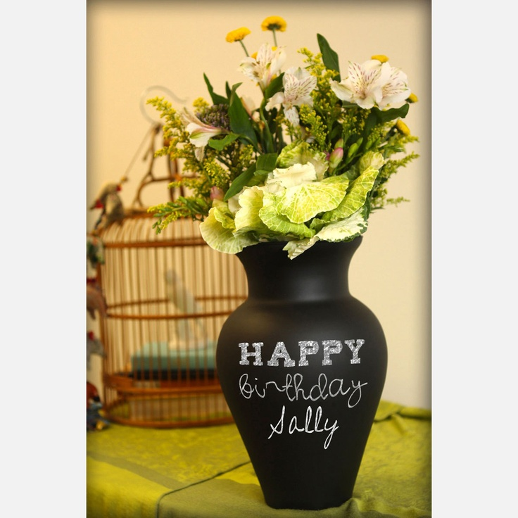Chalkboard Spray Paint Ideas Part - 26: Use Chalkboard Spray Paint And Make Writable Vases, Glasses, Plates Etc.  See Examples