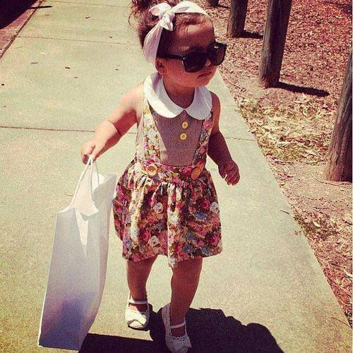 Shopping bag in hand! Sunglasses on! #cute