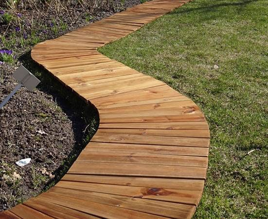 Movable wood path
