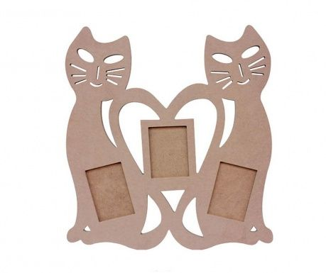 Rama 3 fotografii pentru decorat Love Cats
