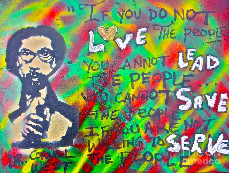 Dr. Cornel West (whom I may or may not always agree with, but always want to hug): People Paintings