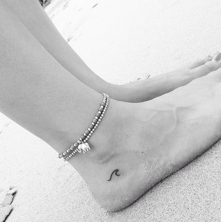 Ocean Inkling | 15 Tiny Tattoos You're Going to Obsess Over via Brit + Co.
