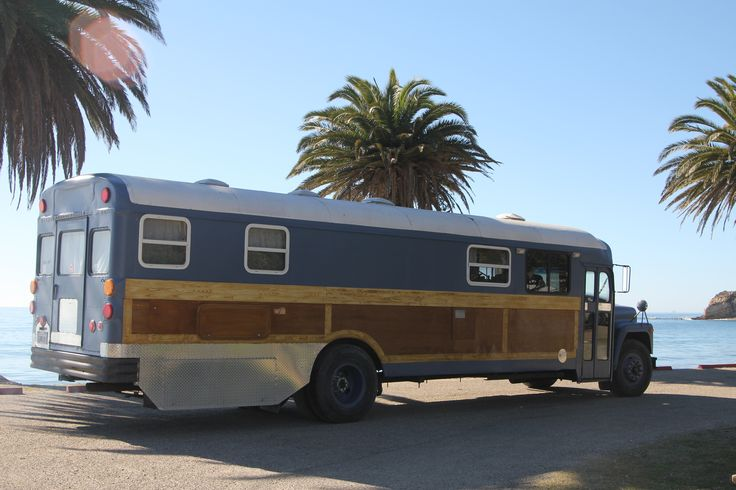 This is a great thing to do with an old school bus.... It has wood floors, an old wood stove... horse trough as a bath tub...a large kitchen and many other fabulous amenities.