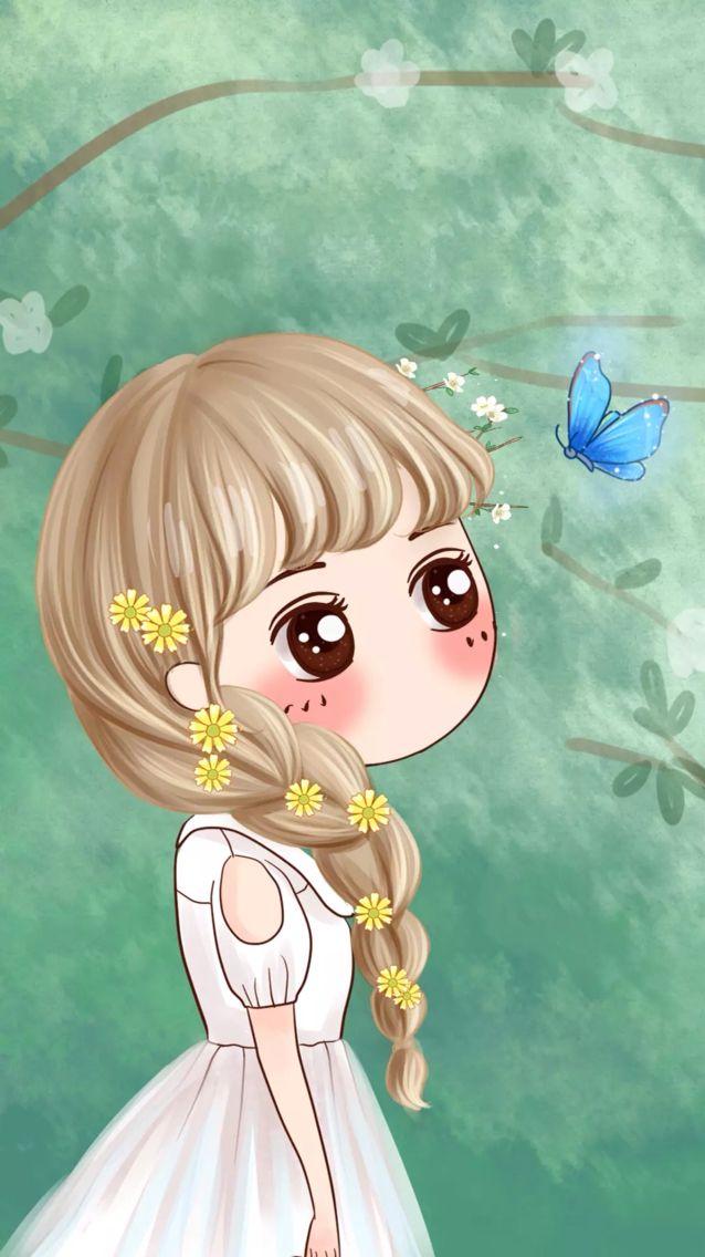 8 best kawai girl forest images on pinterest chibi - Cartoon girl wallpaper ...