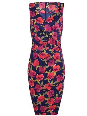 grad dress? Alexon Navy Floral Printed Wrap Dress Navy - House ...