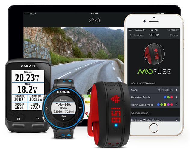 Mio FUSE - sensore del battito cardiaco e performance Visione essenziale senza fronzoli   Le tecnologie Bluetooth Smart (4.0) ed ANT+ assicurano un trasferimento dati perfetto all'applicazione Mio GO ed alle app di terze parti per il fitness, oltre ad un gran numero di dispositivi esterni.  L'app Mio GO è disponibile gratuitamente...   ...sull' App Store (iOS)... su Google Play (Android)... ...