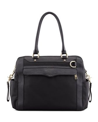 Knocked Up Nylon Diaper Bag, Black by Rebecca Minkoff at Neiman Marcus.