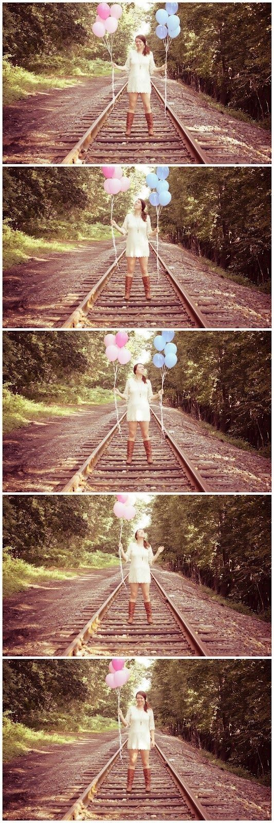 Lâcher de ballons roses ou bleus ... ou les deux??