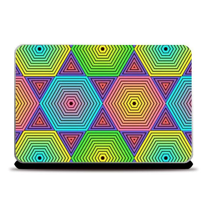 Geometric Laptop Skins   Artist : Madhumita Mukherjee   PosterGully