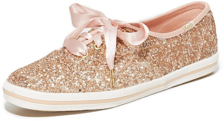 Rose Gold Glitter Shoes for the Reception!