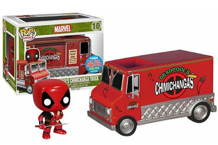 Funko POP! Rides Deadpool Chimichanga Red NYCC Exclusive #10 Vinyl Figure Follow @2stime #deadpool àfunkopop #marvel