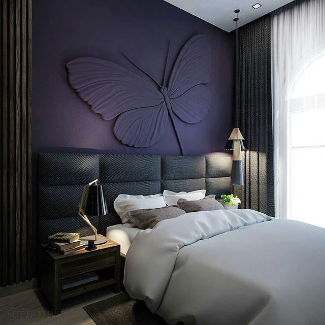 Как вам такое оформление стены в спальне?  ⠀⠀⠀⠀⠀⠀⠀  🔸Теперь мы есть и в Телеграм. Ссылка на канал в описании нашего профиля🔸  ⠀⠀⠀⠀⠀⠀
