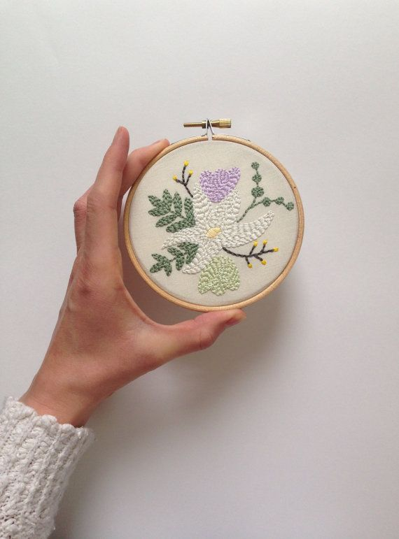 Spring Wild Bloom Embroidered Hoop, Hoop Art, Wall Art, Embroidery, Gift,