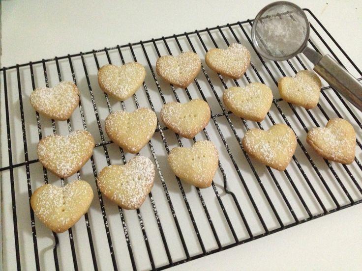 Shortbread love heart biscuits