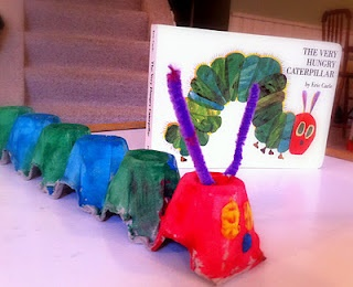 Very Hungary Caterpillar craft - fun way to combine reading and crafts! Super cute, will definitely do this one with the little guy!!