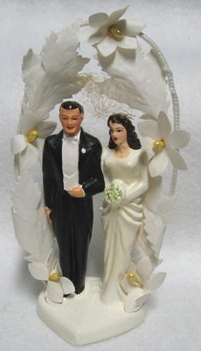 Vintage chalk Bride and Groom wedding cake topper  463 best Cake Topper images on Pinterest   Vintage cakes  Vintage  . Novelty Wedding Cake Toppers. Home Design Ideas