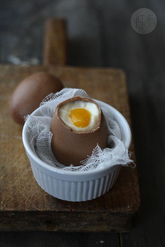Huevos poché de chocolate. (La receta de la felicidad)