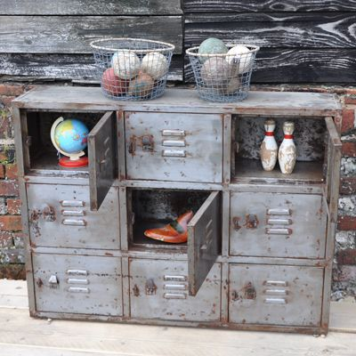 Industrial Vintage Lockers- perfect for my office. Love this cube!