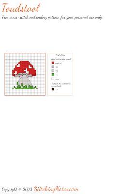 Cross-Stitch Pattern: Toadstool