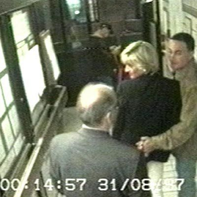 princess Diana: Final moments - CCTV footage showing Diana with Dodi Fayed inside the Ritz Hotel minutes later they both tragically died in a car crash in the Pont de l'Alma road tunnel in Paris. 1997-08-31 ©PA