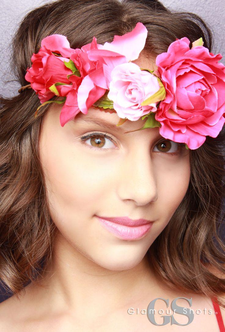 Touching Teen glamour flower