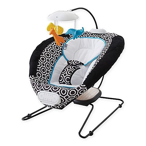 Jonathan Adler Crafted by Fisher Price Deluxe Bouncer is designed for parents…
