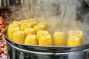 How to Steam Corn on the Cob... as we usually boil it for about 10 min, not sure the 7 min would be quite long enough. Try and see if it works!