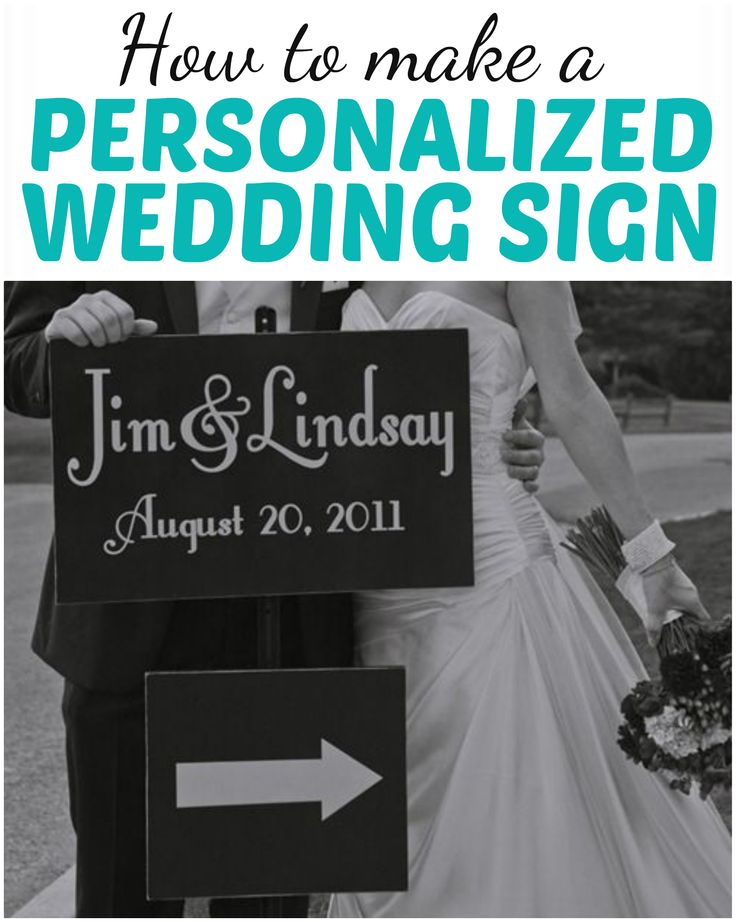 DIY Ideas | This custom wedding sign was SO easy to make I literally made it the day of the wedding. It's perfect for directing guests to the ceremony and reception and also makes a sentimental piece of wall art for the newlyweds commemorating their big day!