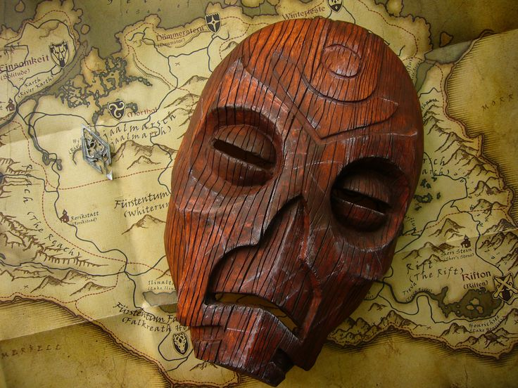 Wooden Mask (Dragon Priest Mask) from Skyrim by Corroder666.deviantart.com on @deviantART