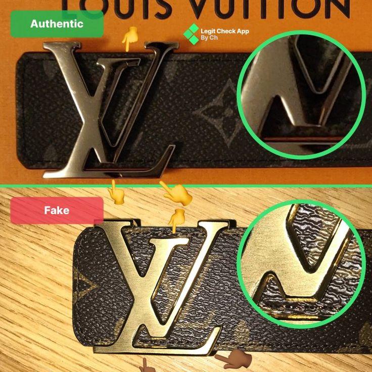 Fake vs real louis vuitton belt damier and monogram