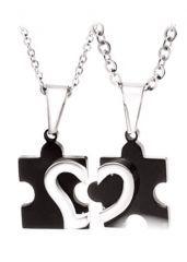 Puzzle ( Bulmaca)  Çelik Sevgili Kolyesi