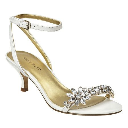 Nine West: Sale Shoes > Offcourse - Sandal - these look beautiful Lali!  And on special at nine west!  They do have bling which may catch on your dress tho..... the leather could be colour changed if you liked them.  Caught my eye because they are so pretty and have a low heel xx