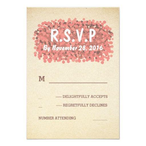 Confetti Modern Wedding RSVP Cards