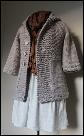 """Welford Purls -  109-8 Knitted jacket in """"Eskimo"""" by DROPS design"""