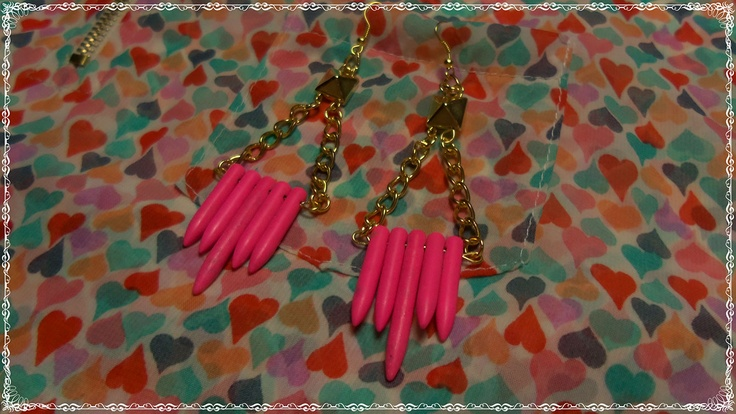 """Modelo """"Pinky""""  #earrings #mode #fashion #accesories #accessories #jewelry #look #fashionaccessories #luxjewelry #pink #gold #style #studs"""