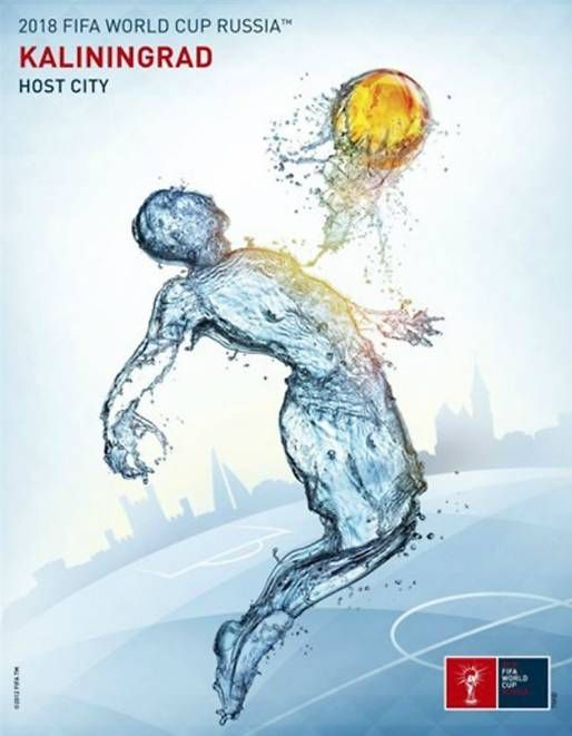 Poster of Kaliningrad, FIFA World Cup 2018 host city. Russia 2018.