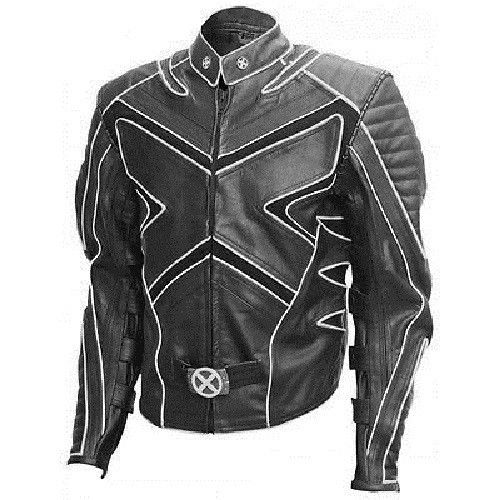 Handmade Wolverine Black or White Fashion X-Men Leather Jacket Men Style #Handmade #BikerJackets
