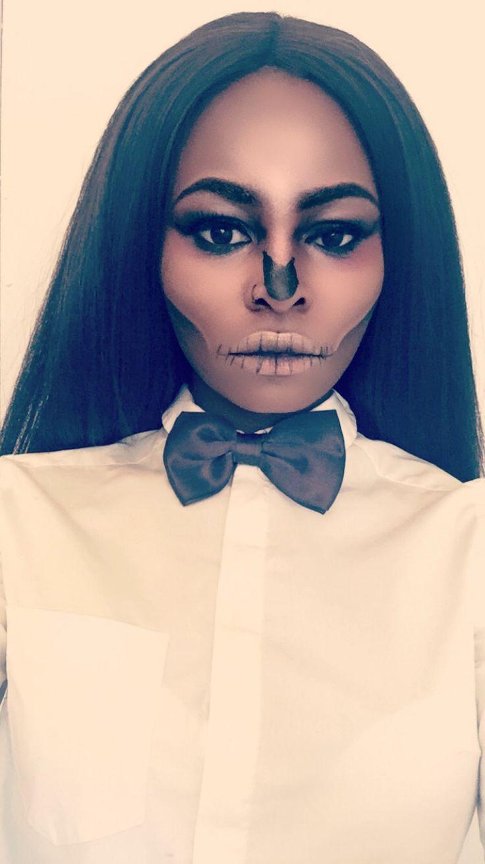 Skull Halloween Makeup  #halloween #makeup #skull #tutorial #video #black