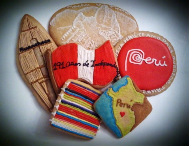 Peruvian decorated cookies