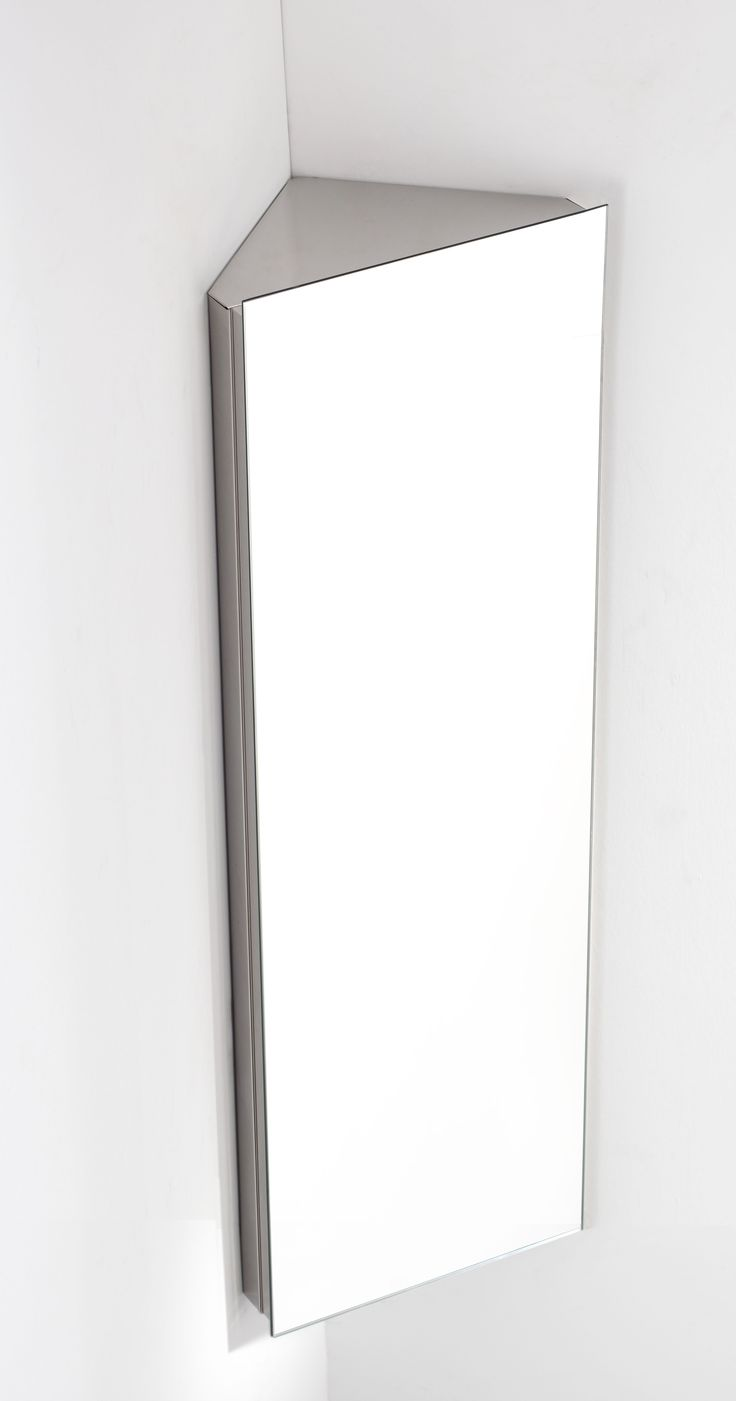 Reims 120cm Tall X 38cm Wide Single Door Corner Mirrored Bathroom Cabinet Wall CabinetsMirror